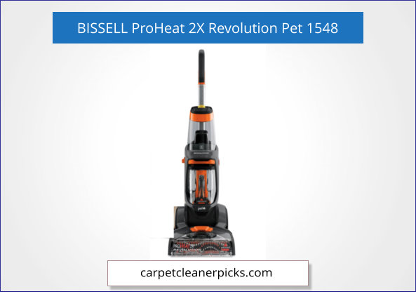 BISSELL ProHeat 2X Revolution 1548 Carpet Cleaner for Pets